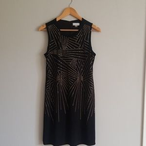 Black/Gold Sheath Dress